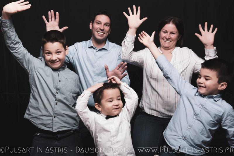 Photo famille fun