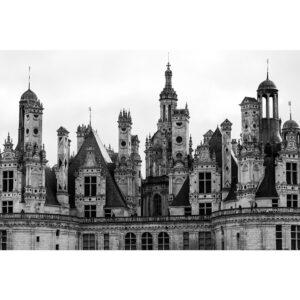 Affiche château patrimoine français