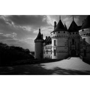 Poster photo noir et blanc, loir et cher château patrimoine français