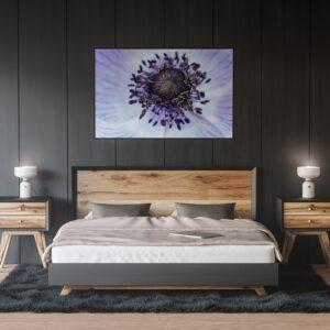 Affiche déco fleur violette, photo macro