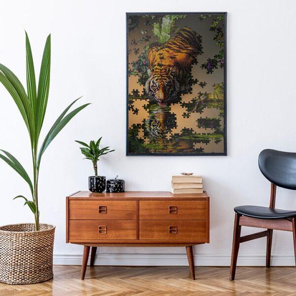 Affiche photographie puzzle tigre jungle couleur