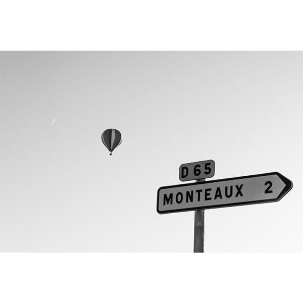 Affiche ciel montgolfière panneau monteaux