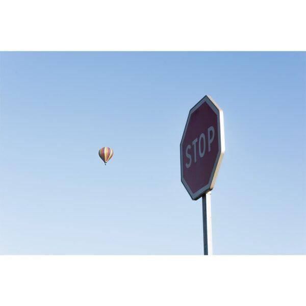 Affiche paysage, déco, ciel, panneau signalisation, montgolfier, france