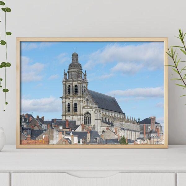 Affiche déco couleur, photographie Eglise Blois(41)