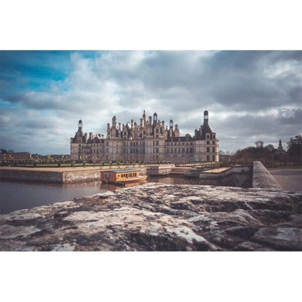 Photographie du chateau de Loire, chambord, loir-et-cher, affiche déco couleur