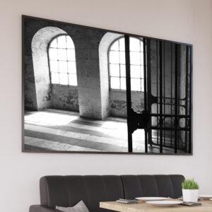 Photographie roseraie Blois, loir-et-cher, affiche décorative noir et blanc
