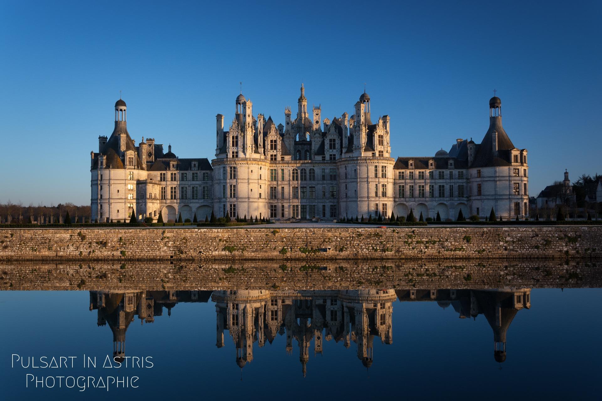 château de Chambord effet miroir
