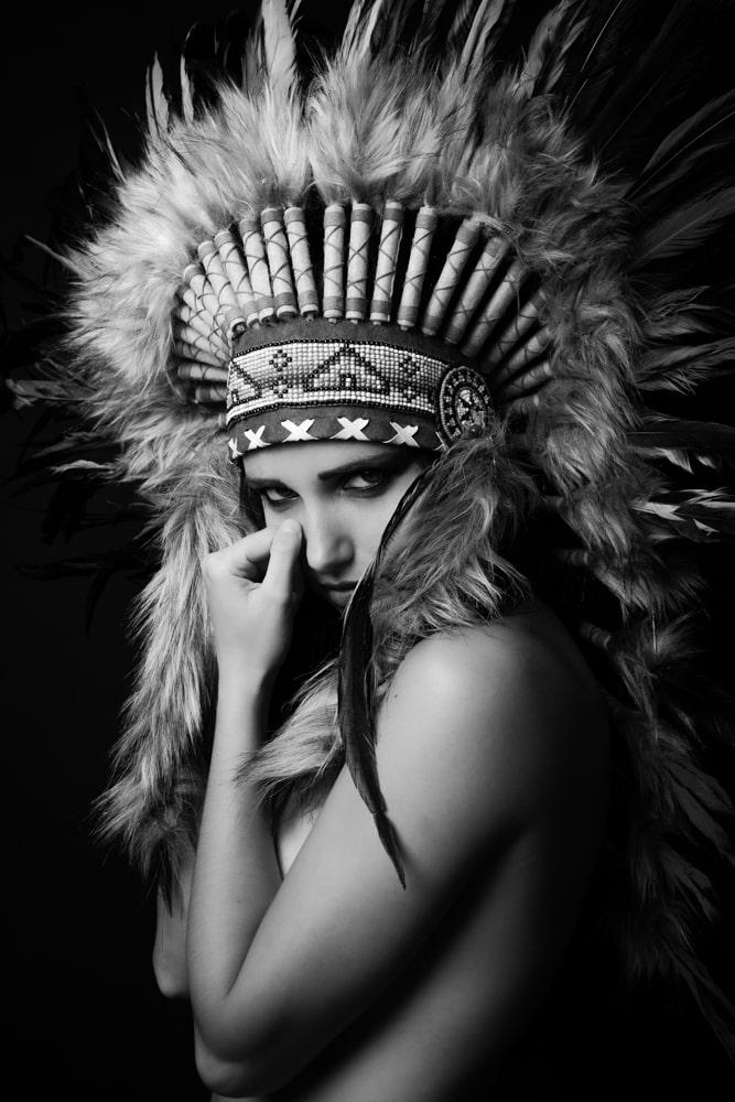 Fine-art photo coiffe indienne