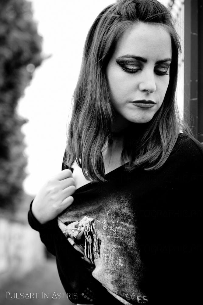 photo portrait femme n&b