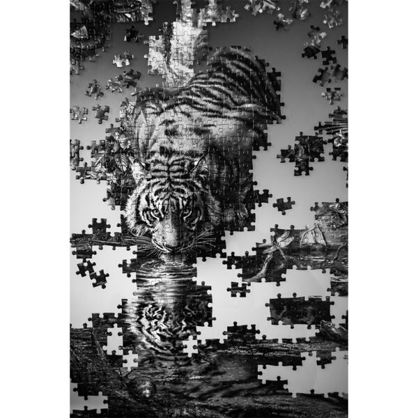 poster Puzzle Tigre n&b 2
