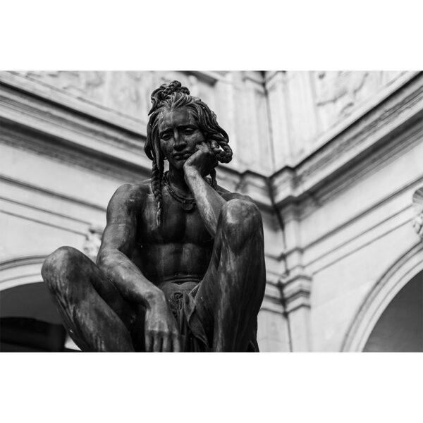 statue de bronze penseur Lyon